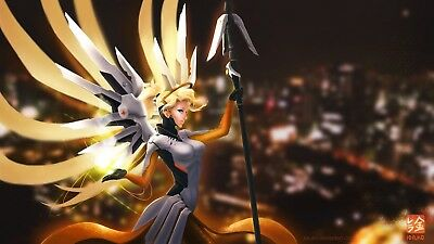 Overwatch Mercy Game Poster Print T248 |A4 A3 A2 A1 A0|