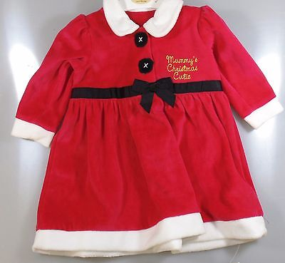 New Childrens Fancy Dress Costume Little Santa Father Christmas  Aged  3-6 month