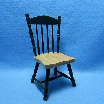 Dining Room Spindle Chair in Oak ~ CLA04413 Dollhouse Miniature Kitchen