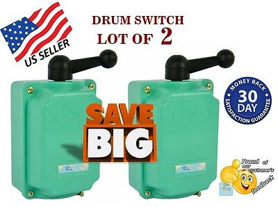 Drum Switch -Lot of 2- 60A Forward-Off-Reverse Motor Control - Guaranteed