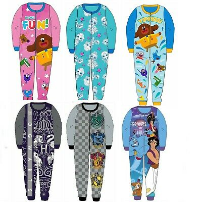 Girls Official Fleece Character Onesie Pyjamas Kids All In One Oneises Age 2-8Y