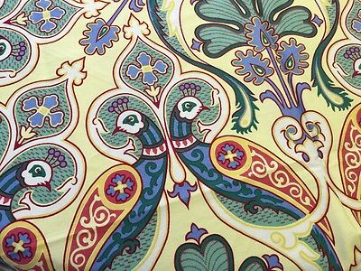 RARE Stunning Tablecloth By Martine Nourissat For Beauville Peacock Bird Pattern