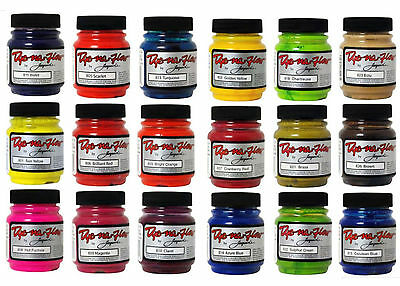 Jacquard Dye Na Flow Fabric Dye Paint 2.25oz 33 Colours Water Resistant