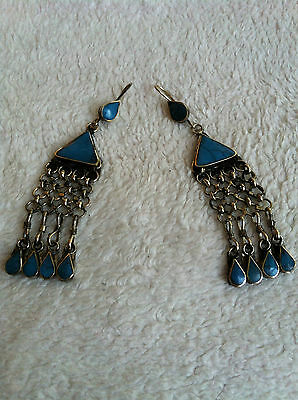 Tribal Afghan Gemstone Turquoise Earings