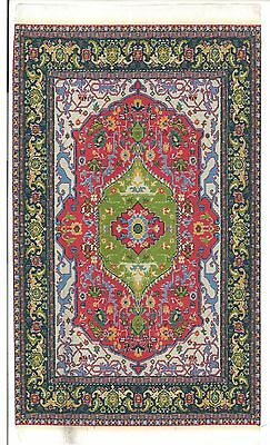 "Dollhouse Miniature Beautiful Woven Turkish Rug 4"" x 5"" ~ S110-132  NEW"