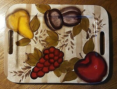Small Tabletops Gallery Hand Painted Ceramic Serving Tray Platter Tv Tray