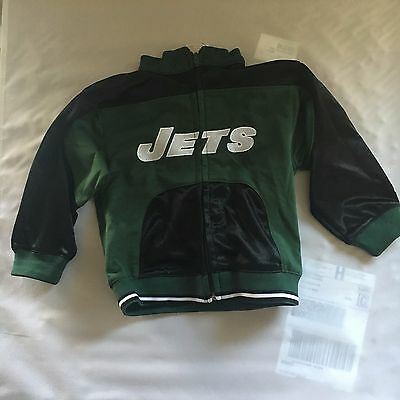 Euc Toddler Boy's New York Jets Zip-Up Jacket-Size: 24 Months Reebok