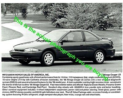 1996 Mitsubishi Mirage Coupe LS Factory Press Release Photo a32