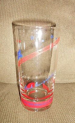Vintage Frisco St Louis San Francisco Railway advertising railroad train glass