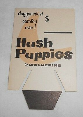 Vintage Hush Puppies Shoes by Wolverine advertising store sign display UNUSED