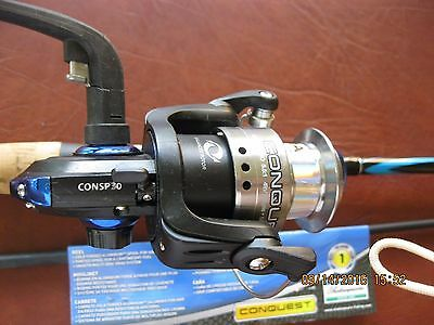 SHAKESPEARE CONQUEST COMBO 6' SPINNING ROD AND REEL 6' Med 6-12lb 2 Pcs