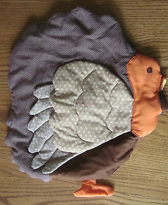 19 x 17 Hand Crafted Fabric THANKSGIVING TURKEY Wall Door Decoration