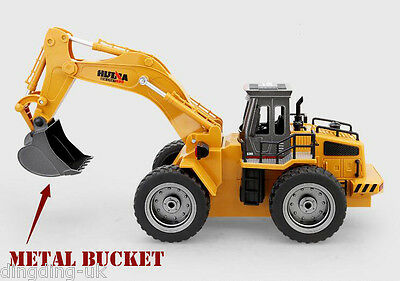 Radio Remote Controlled Digger Excavator Bulldozer Truck 2.4G Construction Toy
