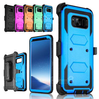 For Samsung Galaxy S8 Plus Note 8 Holster Belt Clip Shockproof Rugged Case Cover