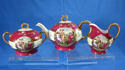 Schwarzburg Porcelain Teaset Germany c.1904-1924 In the style of Royal Vienna