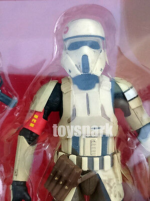 "STAR WARS Black Series 6"" Rogue One SCARIF STORMTROOPER Walmart Exclusive figure"