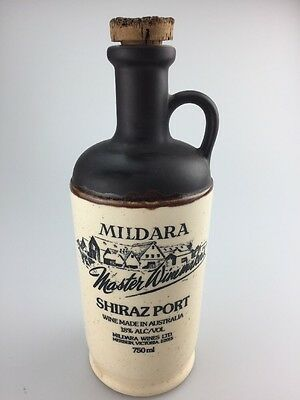 Vintage Mildara Shiraz Port Stoneware Jug Bottle - Empty