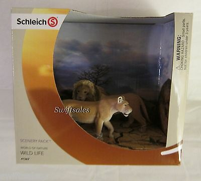 Schleich Scenery Pack World of Nature Wild Life 41367 - Two Lion Set - New!