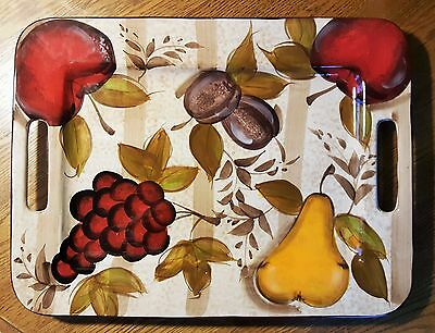 Large Tabletops Gallery Hand Painted Ceramic Serving Tray Platter Tv Tray