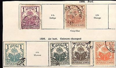 Stamps ~ HAITI HAYTI ~ Caribbean 1893 & 1898 Early Classic Issues
