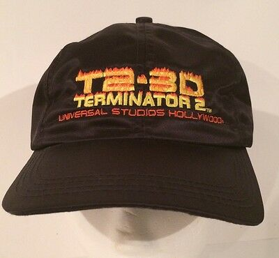 Vtg Terminator 2 T2 3D Hat Universal Studios Hollywood Movie Ride Promo Cap