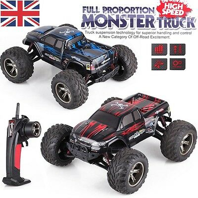 UK 2.4GHZ Large Monster Truck Fast Speed 1/12th Remote Control RC Car Toy Gift