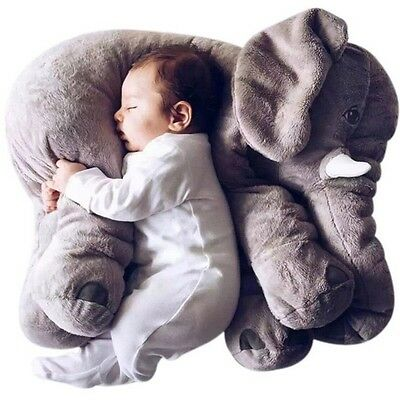 60cm Colorful Giant Elephant Stuffed Animal Toy Animal Shape Pillow Baby Toys