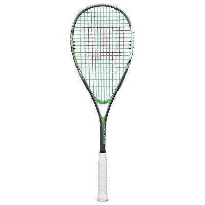 NEW Wilson Impact Pro 900 Grey/Green Squash Racquet from Rebel Sport