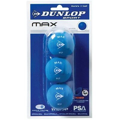 NEW Dunlop Blue 3 Pack Squash Balls   from Rebel Sport