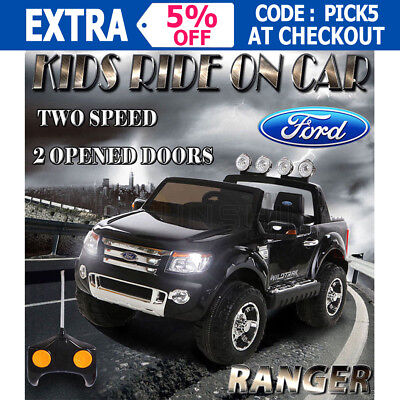 12V Licensed Ford Ranger Kids Electric Ride On Car Truck Childrens Toy Battery