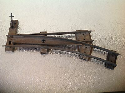 1 X Vintage Meccano Hornby 0 gauge track  Parallel Points