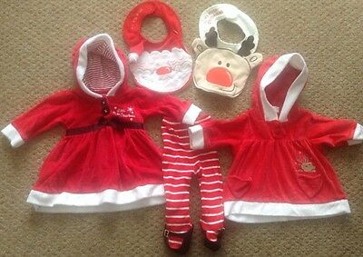 My First Christmas Baby Bundle 0-3 Months. 5 Items Ace Condition.