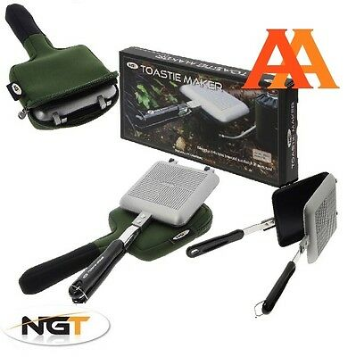 Ngt Sandwich Bankside Toastie Maker With Case Toaster For Camping Carp Fishing