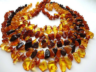 Lot -5 Genuine  Baltic  Amber Necklaces