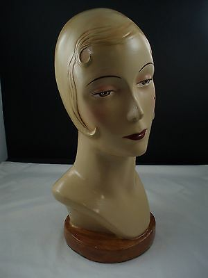 Mannequin head display new item 1940's look display hats jewelry nicely painted