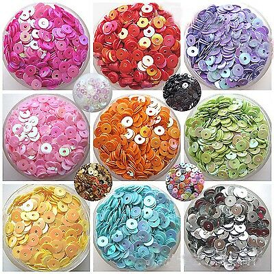 Fab 1000pcs Round Loose Sequins Paillettes Clothes Sewing Wedding DIY Craft Hot