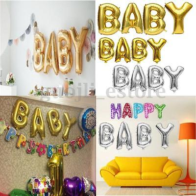 "16""/40"" Silver/Golden BABY Foil Letter Balloon Birthday Wedding Party Decor Gift"