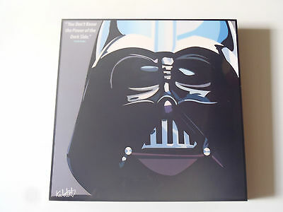 Tableau Sur Plexi Pop Art Keetatat Sitthiket  Stars Wars Dark Vador