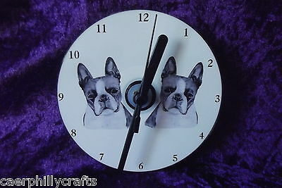 Boston Terrier CD Clock by Curiosity Crafts