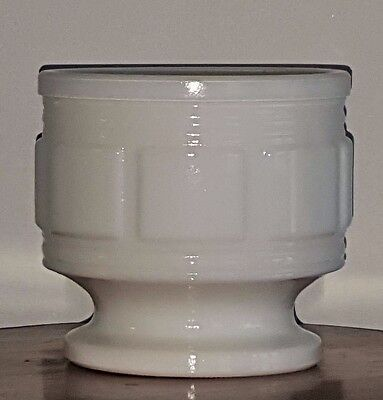 White Milk Glass Candy Dish / vase / planter / compote