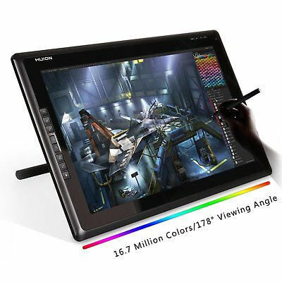 Huion 18.4 Inch Graphic Pen Tablet Monitor TFT 1366 x768 Resolution GT185 Glove