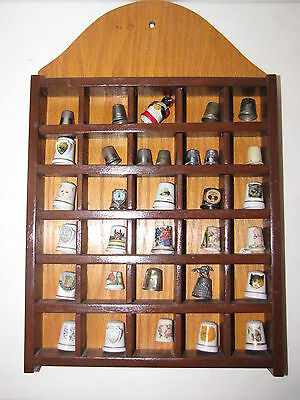 Thimble Collection Porcelain Display Case
