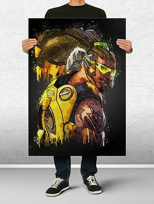 Lucio Overwatch Poster Art Print Watercolor Wall Decor Game Print Poster Gift