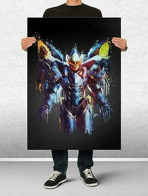 Pharah Overwatch Poster Art Print Watercolor Wall Decor Game Print Poster Gift
