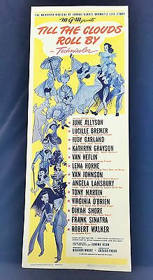 Original 1962 TILL THE CLOUDS ROLL BY Movie Insert Poster 14 x 36 FRANK SINATRA