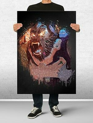 Winston Overwatch Poster Art Print Watercolor Wall Decor Game Print Poster