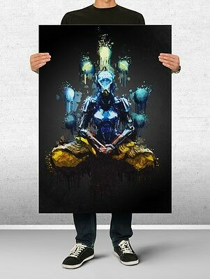 Zenyatta Overwatch Poster Art Print Watercolor Wall Decor Game Print Poster