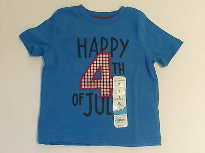 NWT Happy 4th of July Patriotic Tee T-Shirt Baby Infant Boys 12 Months MSRP $12