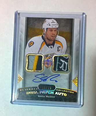 2013-14 UD Ultimate Collection Shea Weber dual patch auto 10/25