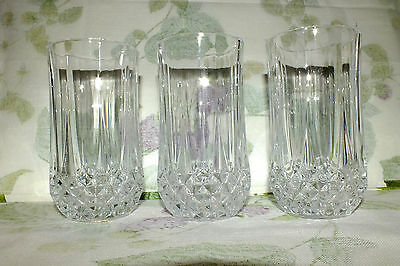 Cristal D'arques Longchamp Highballs Set Of 6    Exc